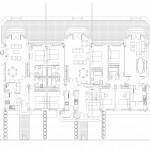BR&C arquitectos Plano planta edificio viviendas Bucarest
