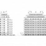 BR&C arquitectos Plano alzado edificios de apartamentos Murcia