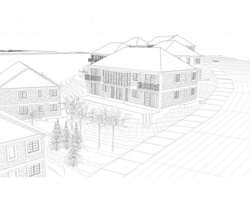 BR&C arquitectos Plano 3d viviendas Galicia