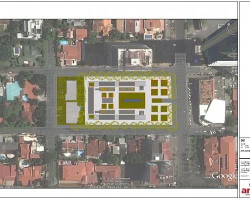 BR&C arquitectos Plano emplazamiento aparcamiento Panamá