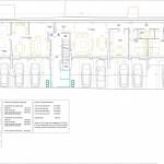 BR&C arquitectos Plano planta baja edificio apartamentos Bucarest