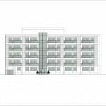BR&C arquitectos Plano alzado edificio apartamentos Bucarest