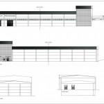BR&C arquitectos Plano alzados nave industrial Teruel