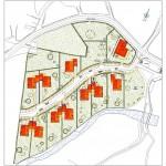 BR&C arquitectos Plano emplazamiento viviendas unifamiliares Álava