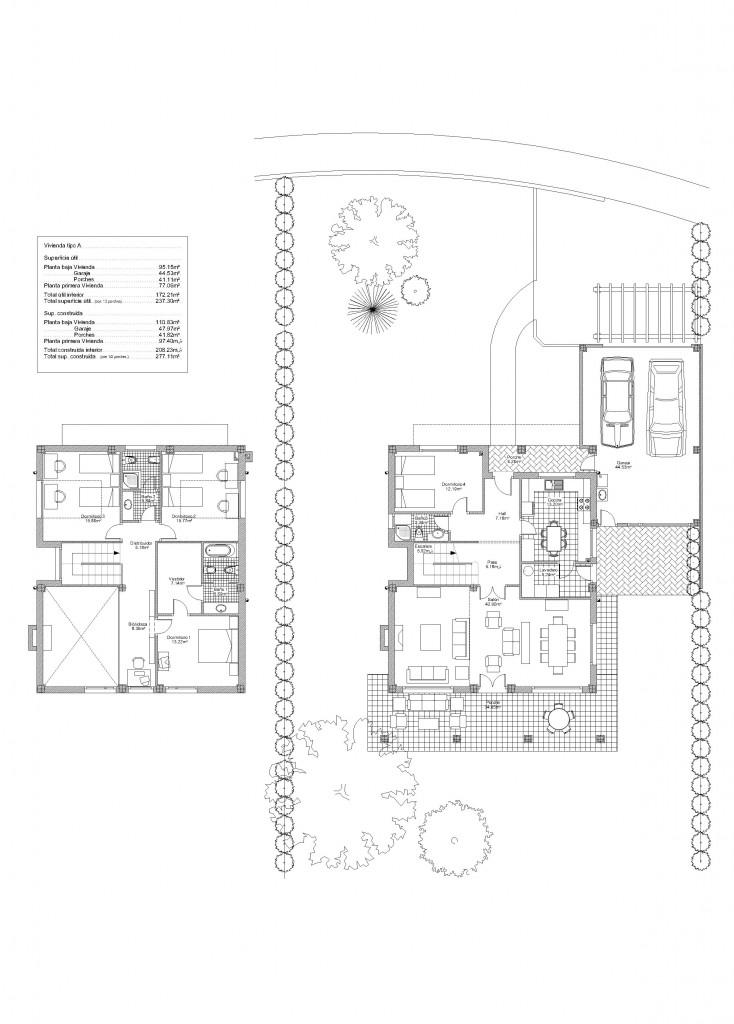 Alava bitoriano br c arquitectos - Viviendas unifamiliares planos ...