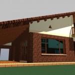 BR&C arquitectos Infografía vivienda unifamiliar Vizcaya