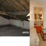 BR&C arquitectos Ático antes y después reforma edificio Bilbao