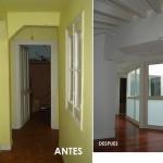 BR&C arquitectos Piso interior antes y después reforma edificio Bilbao