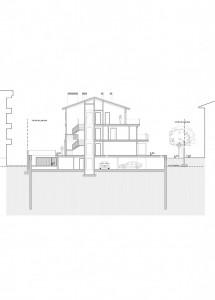 BR&C arquitectos Plano de sección edificio Getxo