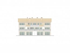 BR&C arquitectos Plano fachada delantera edificio Getxo