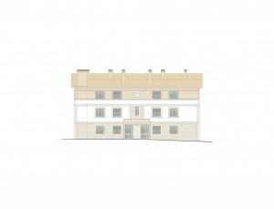 BR&C arquitectos Plano fachada entrada edificio Getxo