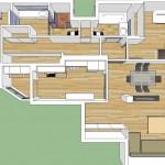 BR&C arquitectos Planos 3d vivienda Pamplona