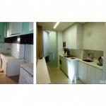BR&C arquitectos Cocina antes y después reformada vivienda Pamplona