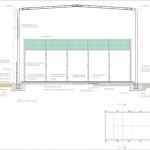 BR&C arquitectos Plano sección pista padel Vizcaya