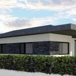 BR&C arquitectos Infografía fachada entrada casa Mungia