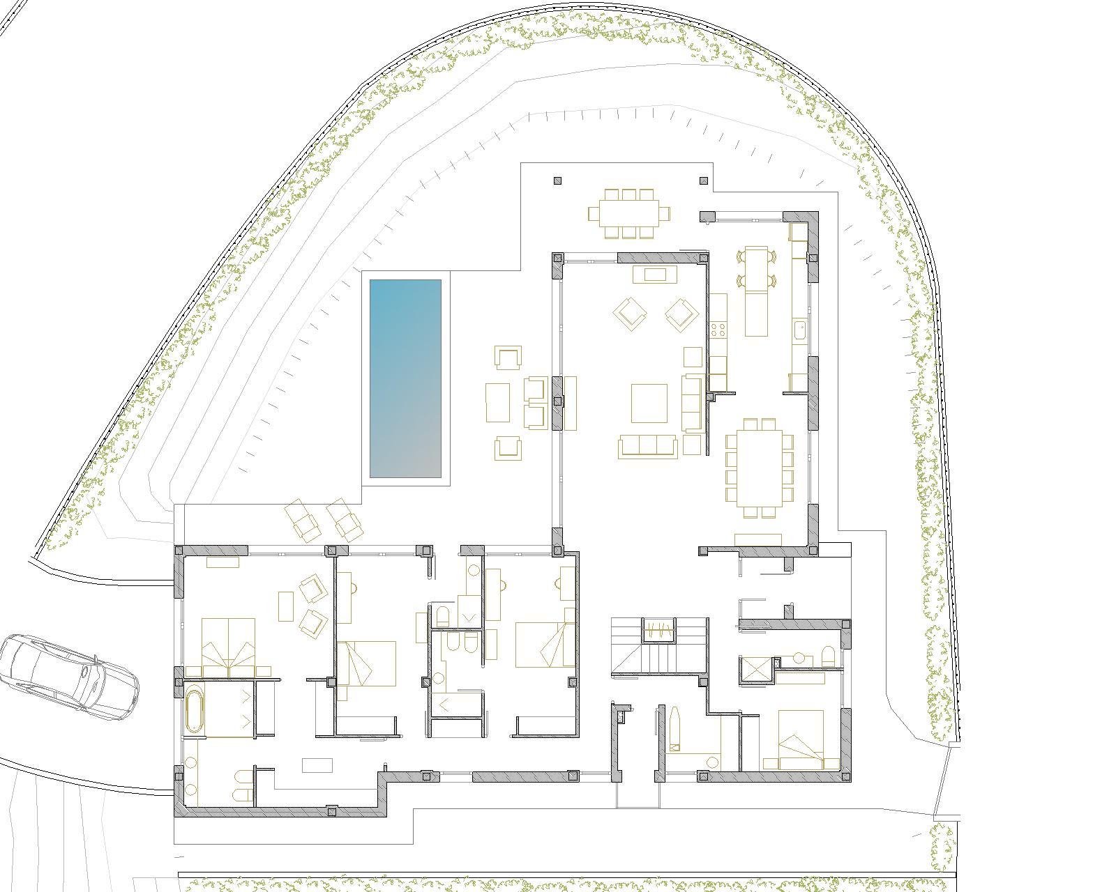 Vivienda unifamiliar en mungia br c arquitectos - Planos de casas unifamiliares ...