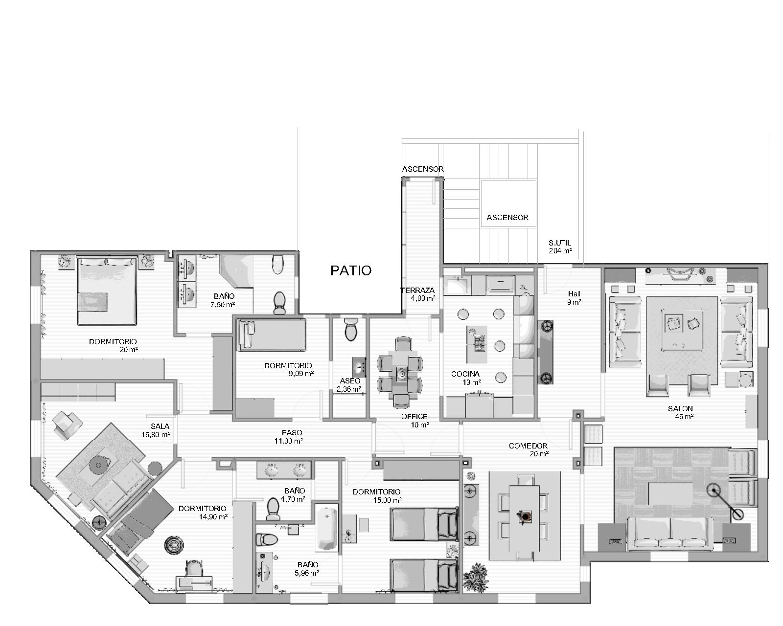 Reforma vivienda pamplona 2 br c arquitectos - Planos de arquitectos ...
