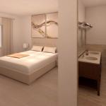 BR&C arquitectos Infografía habitación principal vivienda Pamplona